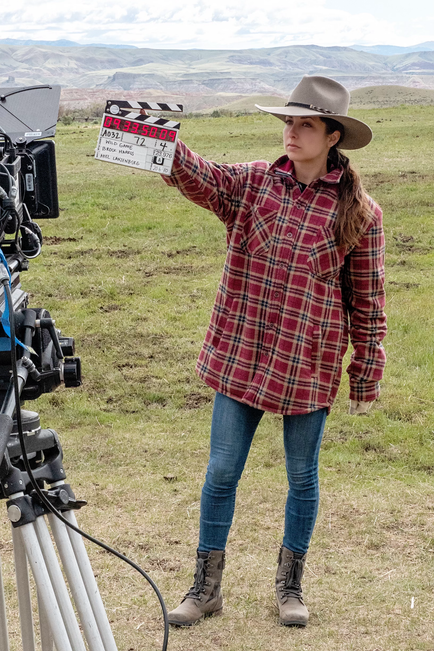 Adriana produces on Western Thriller on location in Wyoming.