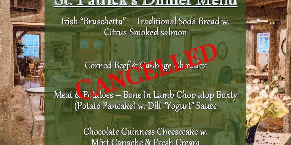 St. Patrick's Dinner