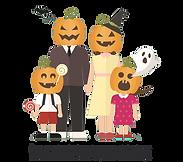 halloween-family-with-halloween-pumpkin-