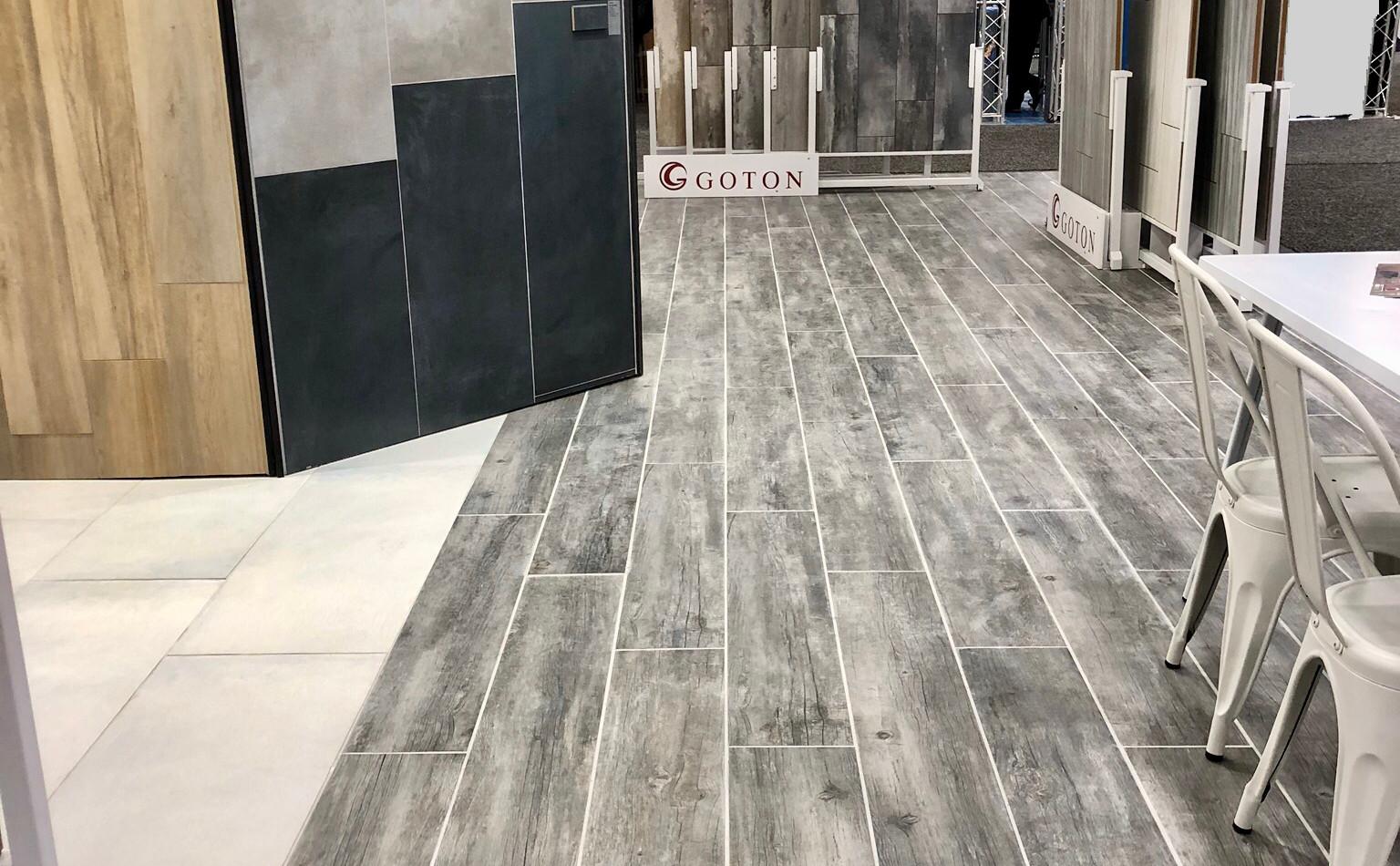 Vintage installed on the floor