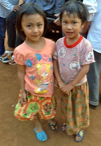 Here are two of the little girls from Cornerstone village.