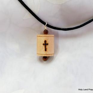 a Maple prayer wheel pendant