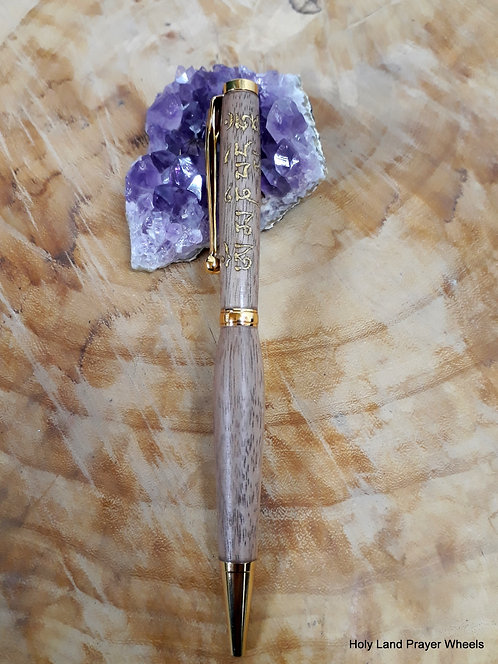 slimline pen - Mani Walnut gold #5