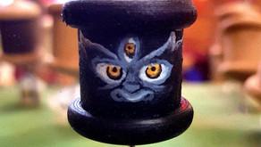 a Mahakala prayer wheel pendant