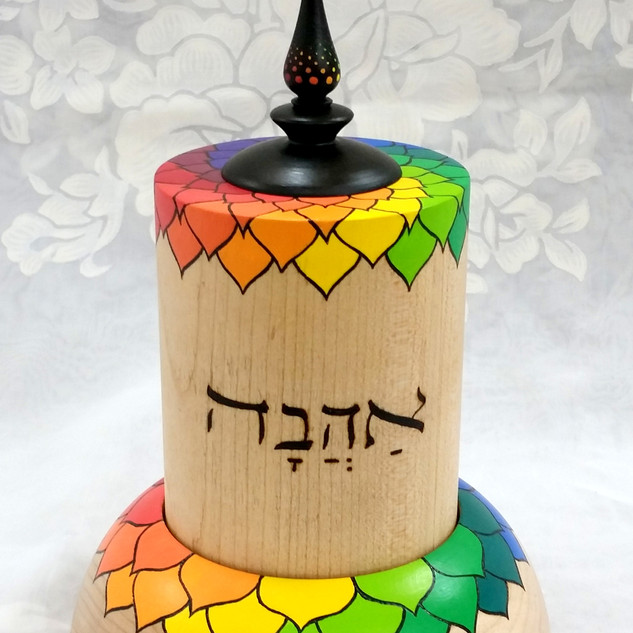a Solomon Song of Songs tabletop prayer wheel