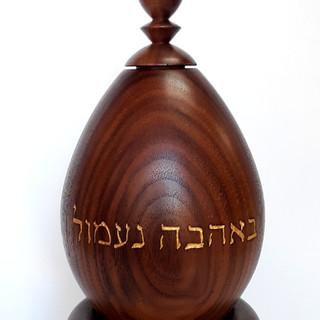 a peace tabletop prayer wheel