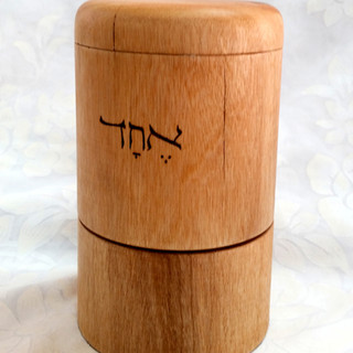a Shema Israel tabletop prayer wheel