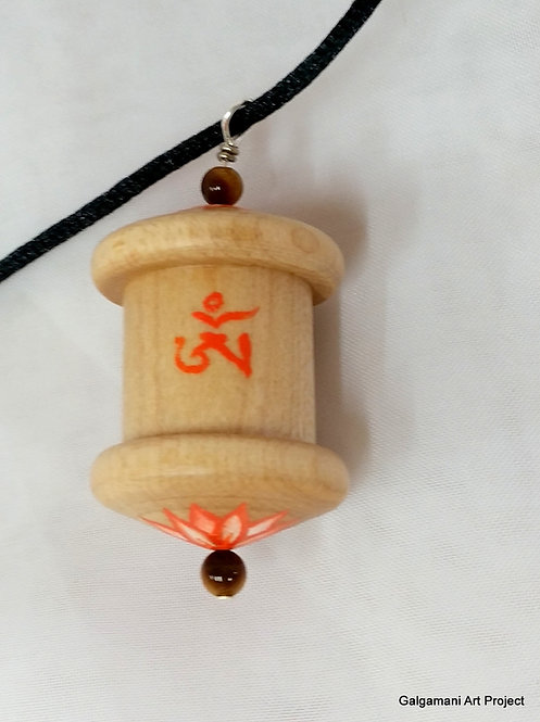 2 million Mani mantra prayer wheel pendant MP#2