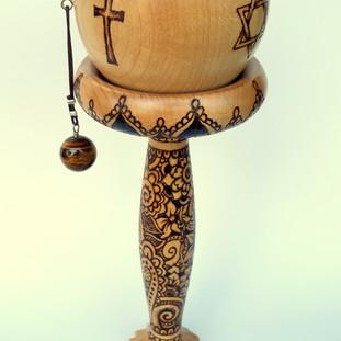 a peace spherical handheld prayer wheel