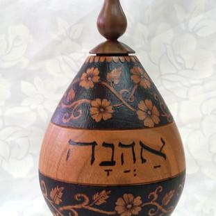 a Solomon Song of Songs tabletop prayer wheel