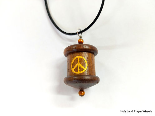 world peace prayer wheel pendant WN#1