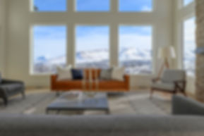 Contemporary living room, mountain view, The Ridges at Rose Canyon, new homes herriman utah, south jordan utah, daybreak, silicon slopes, draper utah, lehi utah, highland utah, alpine utah, custom home utah