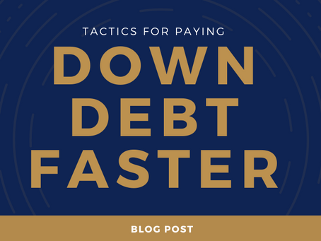 Tactics for paying down debt faster