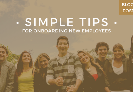 Simple tips for onboarding new employees