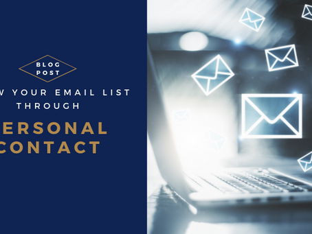 Grow Your Email List Through Personal Contact