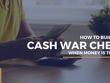 How to build a cash war chest when money is tight