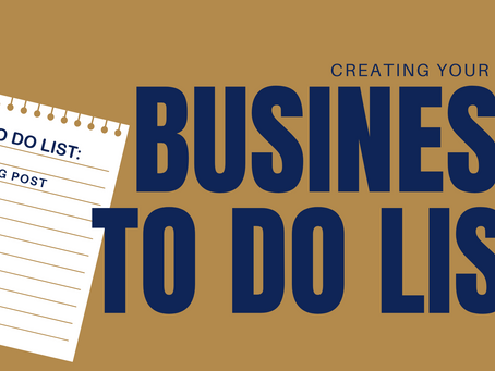 Creating your business to-do list