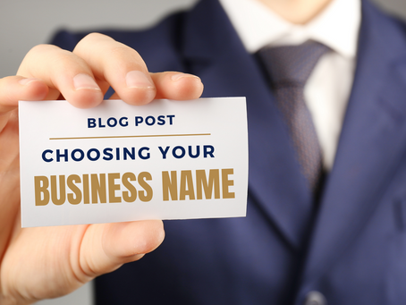 Choosing your business name