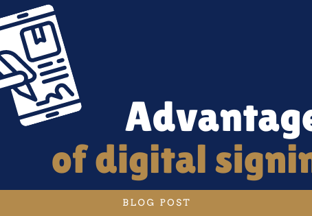 Advantages of digital signing
