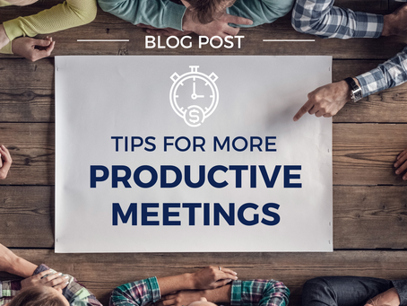 Tips for more productive meetings