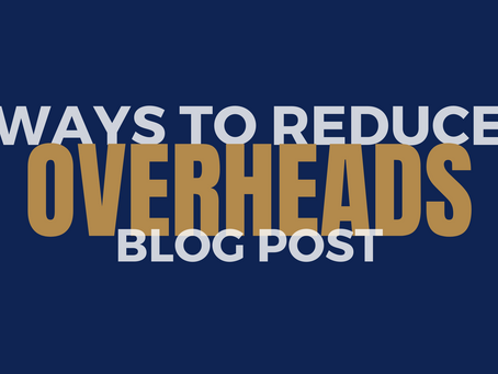 Ways to reduce overheads