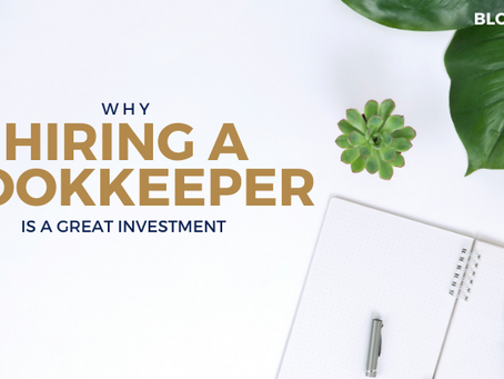 Why hiring a bookkeeper is a great investment