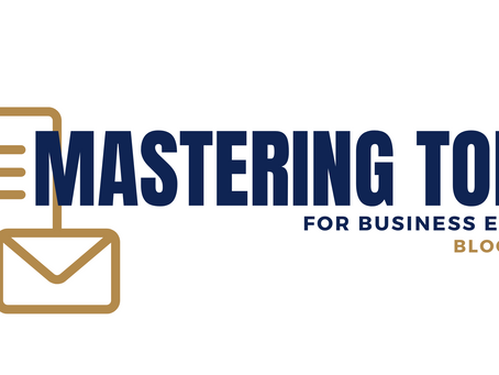Mastering tone for business emails