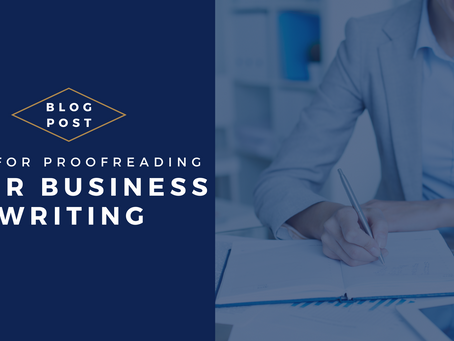 Tips for proofreading your business writing