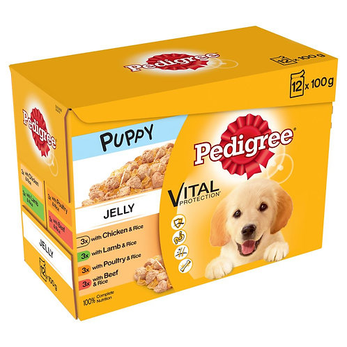 Puppy pouch in jelly 12 pack