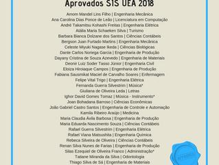 Aprovados na UEA 2018 - 1ª chamada