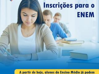 Começam as Inscrições do ENEM 2017