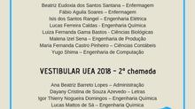 UEA divulga segunda chamada 2018/2019