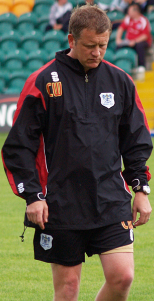 Wilder as an assistant at Bury following his time at Halifax Town