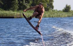 Wakeboarder making tricks