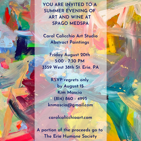 You are invited to a summer evening of art and cocktails At Go Med Spa Carol Calicchio's a