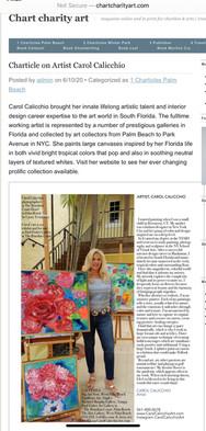 Charticle on Artist Carol Calicchio