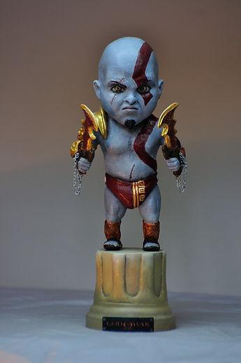 God of war baby figure figurine resine resin statue bensculpt creations benscluplt creations