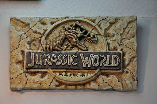 Plaque murale jurassic park, mur wall wallmount jurassc world jurassic park resin decoration deco figurine resine resin statue bensculptcreations bensculpt creations