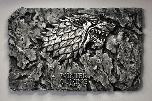 Plaque murale game of thrones bensculpt Creations Winter is Coming Wall art