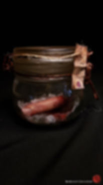 Human finger jar, horrordeco hlloween gore, bensculpt creations