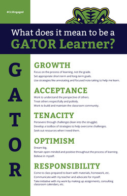CLS Gator Values Poster