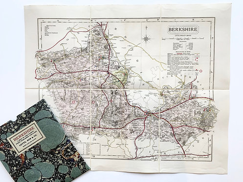 Old County Map of Berkshire by Letts circa 1884