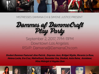 The Dommes of DommeCraft Play Party