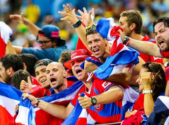 Uruguay and Costa Rica match at the FIFA World Cup 2014-06-14. (Image by Danilo Borges/Portal da Copa via Wikipedia)