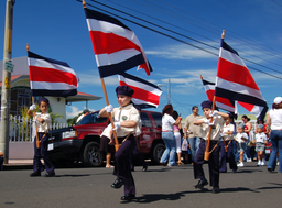 Independence Day in Costa Rica - Flag March 1. (Image by Bruce Thomson via Wikipedia)