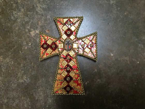 Gold Outline Cross