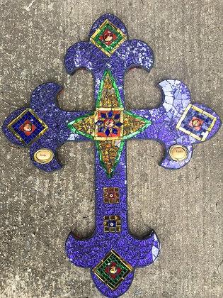 Purple Van Gogh cross