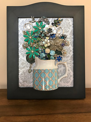 Teal and silver