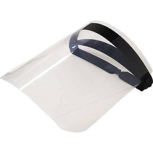 Protetor facial com viseira.