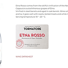 Tornatore, Etna Rose, Sicilian Red